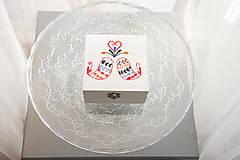 Prstene - Svadobná krabička folkové vtáčatá - 7206160_