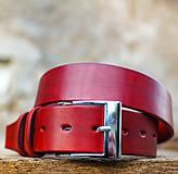Kožený opasok 4cm šírka červenej farby