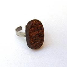Prstene - Mahagónový oválik - 7207106_