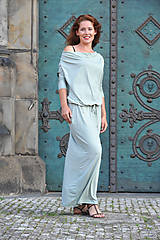 BOHO šaty univerzálne - zelenkavé