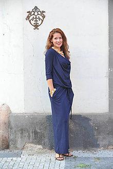 Šaty - BOHO šaty univerzálne - modré - 7205105_