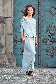 Šaty - BOHO šaty univerzálne - zelenkavé - 7205487_