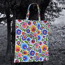 Nákupné tašky - Nákupná taška - folkové kvietky - 7206083_