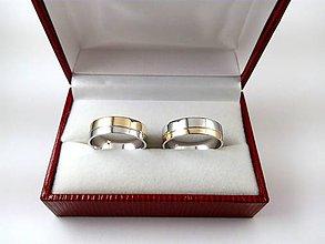 Prstene - Obrúčky bielo/žlté zlato - 7212538_