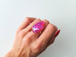 Prstene - Živicový prsteň slza - 7210062_