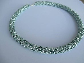 Náhrdelníky - náhrdelník ľadovo modrý - 7212412_