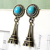 - Tyrkenite & Eiffel Tower Earrings / Náušnice s tyrkenitom - 7212288_