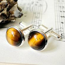 Šperky - Tiger Eye / Manžetové gombíky s Tigrím okom - 7210566_