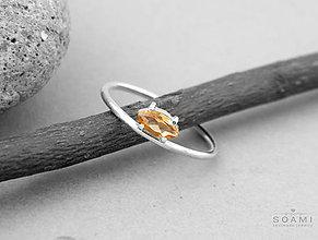 Prstene - Prsteň s citrínom , striebro 925 - 7210152_