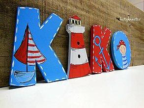 Tabuľky - námornícke písmenká 10cm - 7209783_