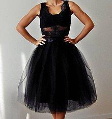 Sukne - Čierna tylová sukňa - 7209732_