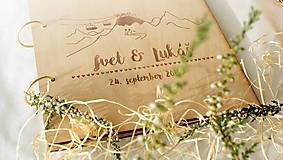 Papiernictvo - Svadobný fotoalbum drevený - 7211216_