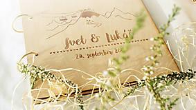 Papiernictvo - Svadobný fotoalbum drevený - 7211218_