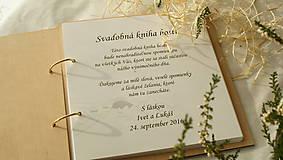 Papiernictvo - Svadobný fotoalbum drevený - 7211225_