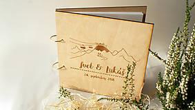 Svadobný fotoalbum drevený