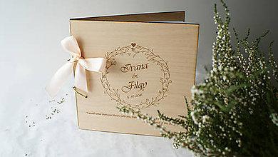 Papiernictvo - Drevená svadobná kniha hostí - 7211112_