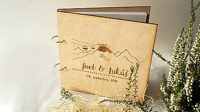 Papiernictvo - Svadobný fotoalbum drevený - 7211241_