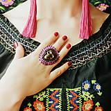 Calaveritas - vyšívaný prsten