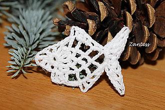 Dekorácie - Vianočná rybička - 7212310_