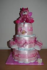 Detské doplnky - Plienková torta - 7213086_