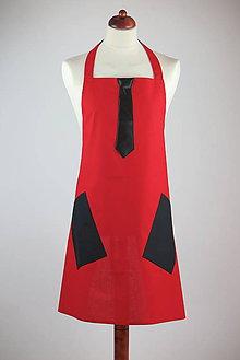Oblečenie - PÁNSKA KUCHYNSKÁ ZÁSTERA RED - 7211329_