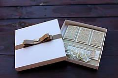 Papiernictvo - Zlatá svadobná sada  - 7209306_