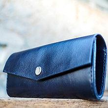 Peňaženky - Kožená dámska peňaženka Navy blue - 7208383_