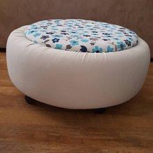 Úžitkový textil - N´JOY sedák - béžový puf - 7213837_