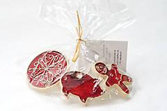 Dekorácie - Keramické vianočné ozdoby - 7213663_