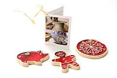 Dekorácie - Keramické vianočné ozdoby - 7213664_