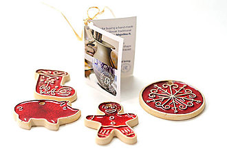 Dekorácie - Keramické vianočné ozdoby - 7213665_