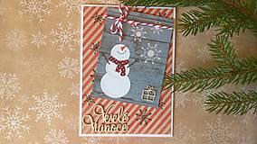 Papiernictvo - pohľadnica Veselé Vianoce - 7214519_
