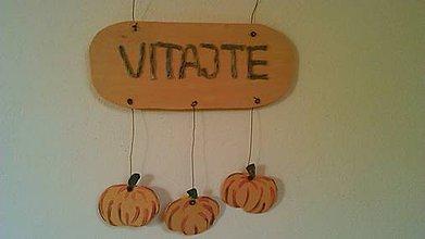 Dekorácie - jesenná dekorácia na dvere /veniec/ - 7215227_