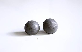 Náušnice - Betónové napichovačky gulaté - 7215020_