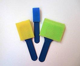 Pomôcky/Nástroje - Penové farebné štetce- sada 3 ks - 7214404_