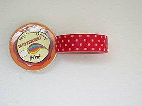 Papier - Dekoračná páska červená s bodkami - 7215804_