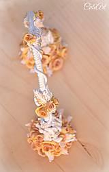 Dekorácie - Svadobný oblúk Romance - kvetinový zápich na tortu - 7216321_