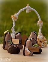 - Personalizovaní svadobní ježkovia XL - menovky/darčeky pre hostí - 7216417_