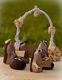 Darčeky pre svadobčanov - Personalizovaní svadobní ježkovia XL - menovky/darčeky pre hostí - 7216417_