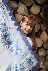 Šatky - Maľovaná folk hodvábna šatka Anička... - 7214035_