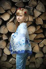 Šatky - Maľovaná folk hodvábna šatka Anička... - 7214049_