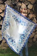 Šatky - Maľovaná folk hodvábna šatka Anička... - 7214131_