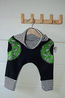 Detské oblečenie - čierne pudláče prasiatka - 7213233_