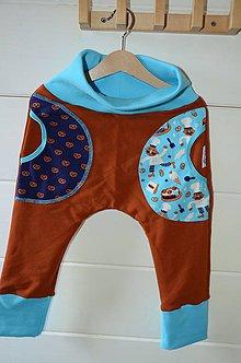 Detské oblečenie - hnedé pudláče pekár - 7213235_