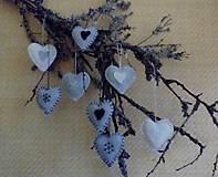 Dekorácie - vianočné ozdoby srdiečka modré - 7215797_