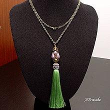 Náhrdelníky - Korálkový náhrdelník 589-0036a - 7219386_