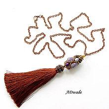 Náhrdelníky - Korálkový náhrdelník 589-0036b - 7219652_