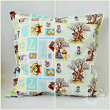 Úžitkový textil - Návliečka na vankúš s Mackom Pu a kamarátmi - 7218411_