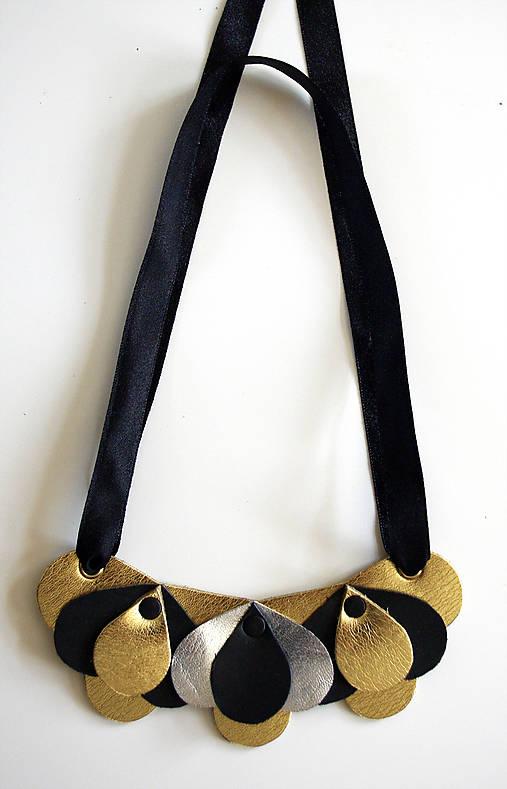 Slzičkový kožený náhrdelník, malý