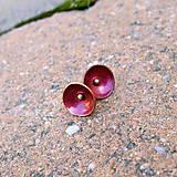 Náušnice - Červené mištičky - 7218060_
